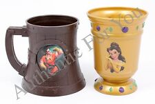 NEW Disney Parks LeFou's Brew Souvenir Stein Mug Cup Beauty and Beast Gaston SET