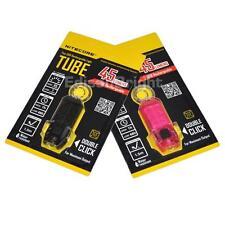 2 Pack NITECORE TUBE 45 Lumen LED Micro USB rechargeable keychain Black & Pink