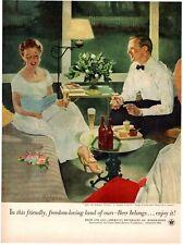 1953 ORIGINAL VINTAGE US BREWERS FOUNDATION BEER MAGAZINE AD