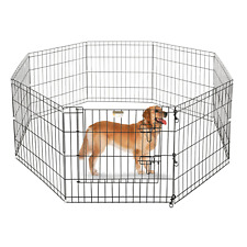 """Portable Folding Pet Playpen Dog Puppy Fences Gate Home Indoor Outdoor Fence 24"""""""