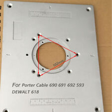 Aluminum Router Table Insert Plate For Porter Cable 690 691 692 593