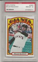 1972 TOPPS #280 WILLIE MCCOVEY, PSA 8 NM-MT, HOF, SAN FRANCISCO GIANTS,  L@@K !