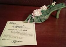 Raine 1999 Just the Right Shoe Courageous Rose Annual Breast Cancer Shoe w/Coa