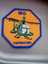 Iron On MG Defender Helicopter Patch