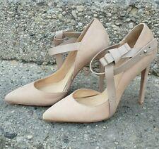 L.A.M.B Blush Leather Suede Stiletto Heel 9.5M
