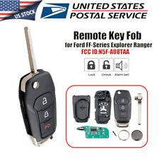 2 Pack FikeyPro Keyless Remote Flip Key Fob for Ford F-150 F-250 F-350 Explorer N5F-A08TAA