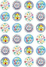 24 Welcome Home Cupcake Fairy Cake Toppers Edible Rice Wafer Paper Decorations