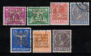 500) NETHERLANDS - NEDERLAND D9-D15  DIENST USED SET 1934 - PERFECT
