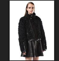 Diesel Black Gold LAPREY Damen Fell Lederjacke (shearling jacket)
