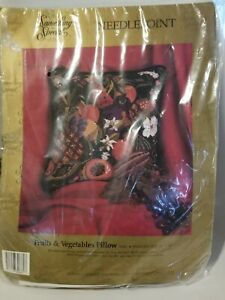 Candamar  Something Special Needlepoint Kit FRUITS and VEGETABLES Pillow ~NIP