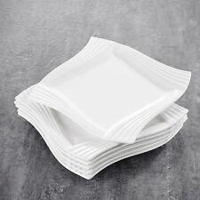 "Malacasa AMPARO 6-Piece 8"" Square Porcelain Dessert Side Plates for Home Kitchen"