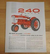 Ih Mccormick Farmall 240 Row Crop 2 3 Plow Tractor Dealer Brochure Pamphlet Gas