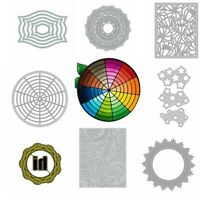 Regular Lace Square Frame Metal Cutting Dies Stencil Scrapbooking Embossing DIY