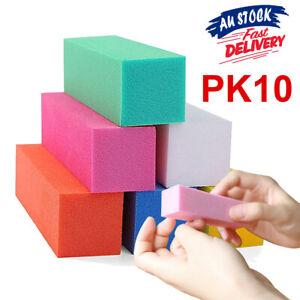 10 pcs Nail Sanding Block Buffer Acrylic Manicure Care Files Art Surface Sponge