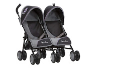 Twin Dolls Double Pram Pushchair Retractable Twin Hoods with Shopping Baskets UK