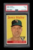 1958 Topps BB Card #412 Jerry Staley Chicago White Sox PSA NM 7 !!
