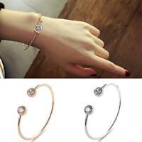 Charm Frauen Open Crystal Rhinestone Cuff-Bracelet/Bangle/Jewelry/GeschenkD O2S5