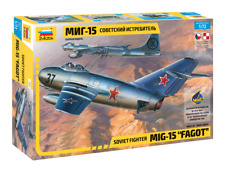 Zvezda 1/72 scale MIG 15 FAGOT aircraft plane model kit