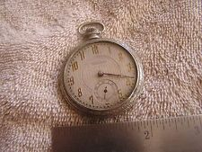 Antique Vintage Stamford Pocket Watch Metro Watch Co. 6 Jewels