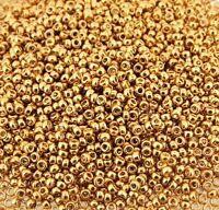 Miyuki Round Seed Beads Size 15/0 Galvanized Yellow Gold 8.2g-Tube (15-91053)