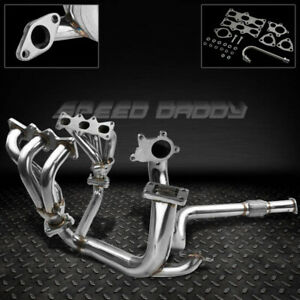 FOR 93-97 FORD PROBE/MX6 V6 T3 STAINLESS RACING TURBO MANIFOLD+DOWNPIPE EXHAUST