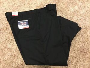 IZOD American Chino Classic-Fit Black Flat Front BIG&Tall 42X36 MSRP $75 NEW D7