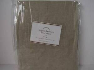 "Pottery Barn (1) Belgian Flax Linen Rod Pocket Sheer Curtain 50"" x 96""-Flax~ New"