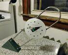 Vintage 1988 Canetti Desk Clock Memphis Milano Postmodernist Marble Chrome WORKS