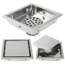 Stainless Steel Invisible Bathroom Floor Drain Waste Grate Shower Drainer Square