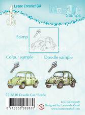 Leane Creatief chiaro Francobolli-Doodle Auto/Beetle - 55.2830 - CHIAVE-creazione di biglietti