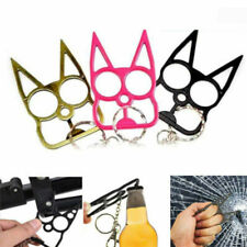 3x Pro Classic Cat Self-Defense Key Chain Keyring Emergency Metal Tool Women NEW