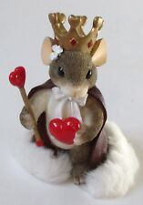 Charming Tails Fitz & Floyd Queen Of My Heart Mouse Figurine