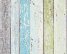 Vliestapete Holz-Optik Planken Bretter grün blau AS Creation 8550-77 (2,34€/1qm)