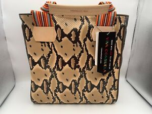 Brand New CONSUELA MARGOT CLASSIC TOTE Brown Snake Print Purse Bag