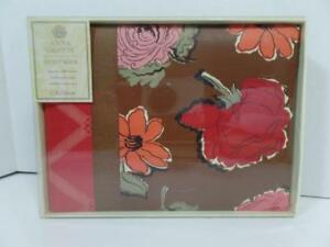 New CR Gibson Anna Griffin Brown & Red Floral WEDDING Guest Book 1000 Entries