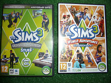2 x PC MAC EXPANSION PACKS for THE SIMS 3 WORLD ADVENTURES +DESIGN & HIGH-TECH