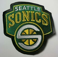 Seattle Sonics - NBA Embroidered Leather Sew On Patch