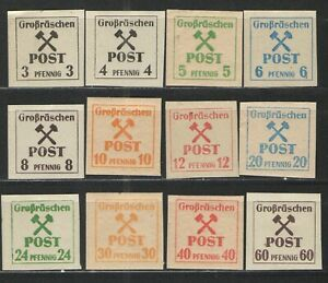 Germany - Grossrauschen Locals 1945 Mi# 31-42 MNH F - complete set