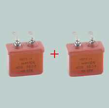 1 uF 400 V LOT OF 2 RUSSIAN PAPER PIO AUDIO CAPACITORS MBGO-1 МБГО-1