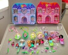 Barbie-Peek a Boo-Petites-2 Carry Storage Cases-9 Necklaces-13 Dolls -Lot L3