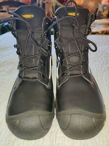 "NEW KEEN PORTLAND 6""  STEEL TOE WATERPROOF BOOTS IN BLACK USM 13, UK 12, EU 47"