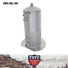 PROFLOW POLISHED 2.5LT FUEL SURGE TANK WITH -AN FITTINGS SUIT BOSCH 044 2.5L AN