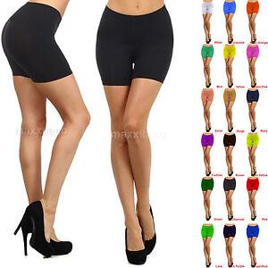 Womens Leggings Shorts Sexy Biker Yoga Workout Size XS,S,M,L Black Seamless New