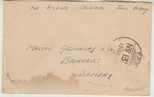1945 INDIAN FORCE in BURMA RAMREE ISLAND cover to BOMBAY with *FPO 131* cancel