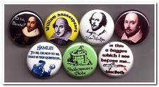 WILLIAM SHAKESPEARE buttons pins badges playwright romeo juliet othello macbeth