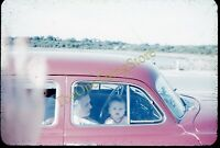 Baby In Front Seat Car Americana 1950s 35mm Slide Red Border Kodachrome