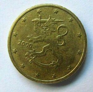 PIECE 50 cents  Euro FINLANDE de 2000
