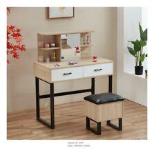 Modern Dressing Table Makeup Vanity/Home Office Desk w/ Mirror & Drawers Bedroom