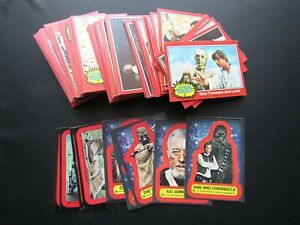 Topps 1977 Star Wars Series 2 Red Border Cards & Stickers Variants (e33)