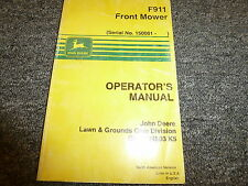 John Deere Model F911 Front Mower Owner Operator Manual User Guide OMM124503